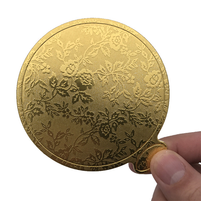Online Shop Aomily 100pcsSet Gold Printing Round Mousse Cake - Wedding Cake Boards