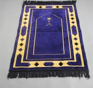 Image 3 - Thick Chenille Islamic Muslim Prayer Mat Blanket Salat Musallah Prayer Rug Tapis Tapete Banheiro Islamic Praying Carpet 70*110cm