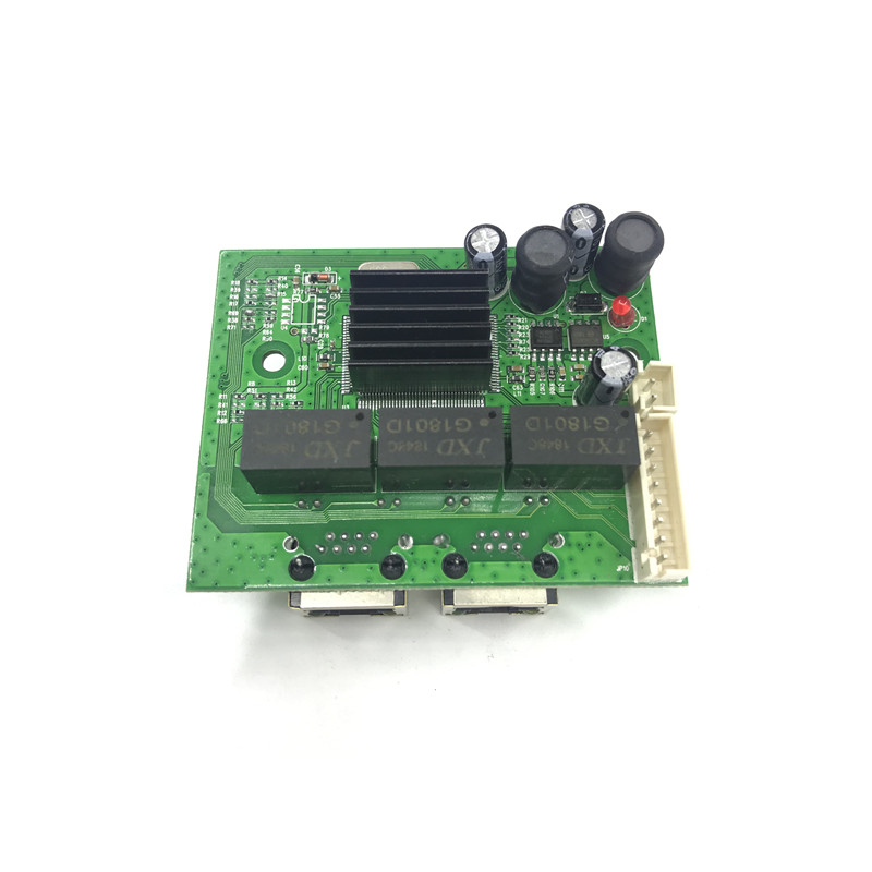 Image 4 - factory direct mini fast 10/100/1000mbps 2 port ethernet network lan hub switch board two layer pcb 2 rj45 1*8pin head port-in Network Switches from Computer & Office