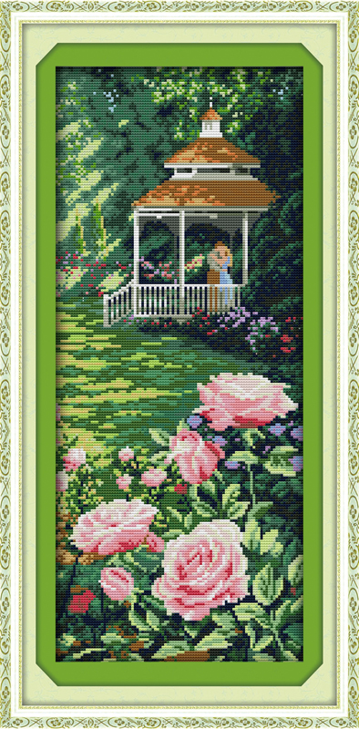 Like in heaven cross stitch kit landscape14ct 11ct count printed canvas stitching embroidery DIY handmade needlework(China)