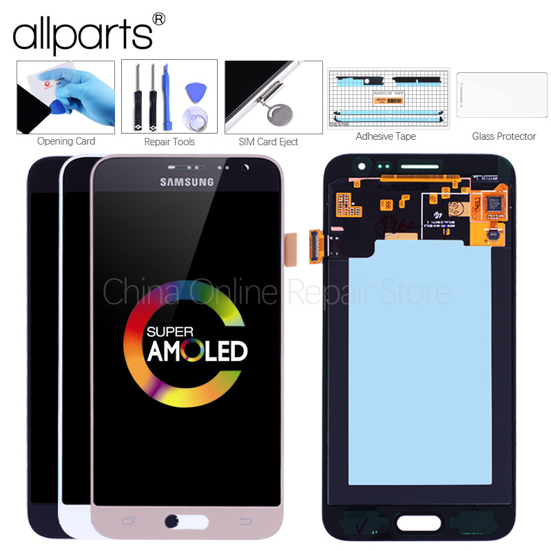 AMOLED 5.0 J3 A CRISTALLI LIQUIDI per SAMSUNG J3 2016 Display J3 2016 LCD Touch Digitizer Screen Display per SAMSUNG GALAXY J3 2016 J320 J320FN
