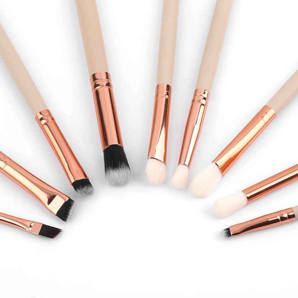 Pro MakeUp 2 Colors 15pcs/set Personal Use Rose Gold Tube Makeup Brushes Set Blush Eyeshadow Eyeliner Lip Cosmetic Brush Kit Pop pro 2 pcs gold