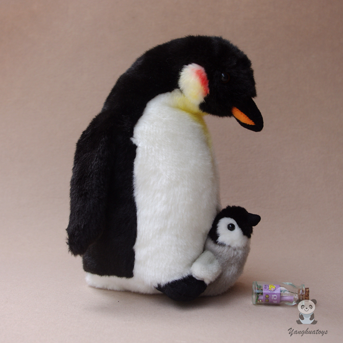 Kawaii Mor och Baby Penguin Doll Plush Leksaker för barn Simulation Wildlife Gift