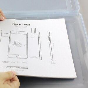 Image 5 - PP פלסטיק ברור תיבת קובץ משרד נייר ארגונית תיבת מסמך עמיד למים מקרה עבור מסמכים