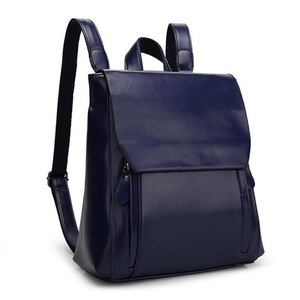 Image 5 - FGJLLOGJGSO brand 2019 New women PU leather school bags for teenage girls casual backpack Wax oil skin Lady Travel Shoulder Bag