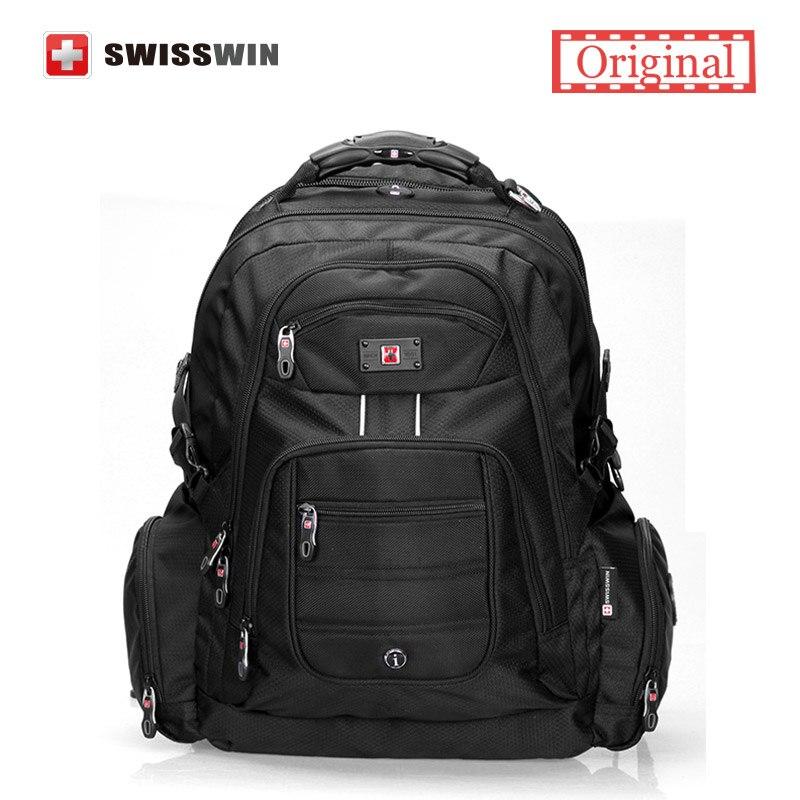 Swisswin 17 inch Men s font b Laptop b font font b Backpack b font Waterproof