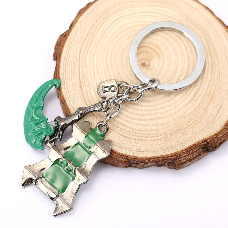 HSIC New Online Game LOL Thresh Keychain Zinc Alloy Llavero Key Rings for Car Keychain Jewelry Movie Jewelry Gifts 11431