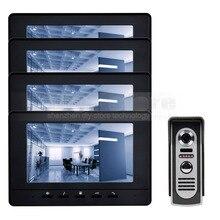 DIYSECUR Pantalla Digital de 7 pulgadas Teléfono Video de La Puerta de Intercomunicación de Vídeo IR Cámara de Visión Nocturna Al Aire Libre Negro