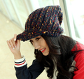 Европа и америка мода зима теплая вс-тени крышка вне модный коллокация шляпа красивый цвет 7 1 шт. новое приходят