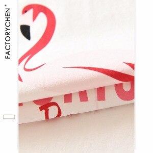 Image 5 - Flamants roses à manches courtes + Shorts maison costume Spot 100% coton pyjama ensembles été nuit recommandé femmes pijama maison vêtements