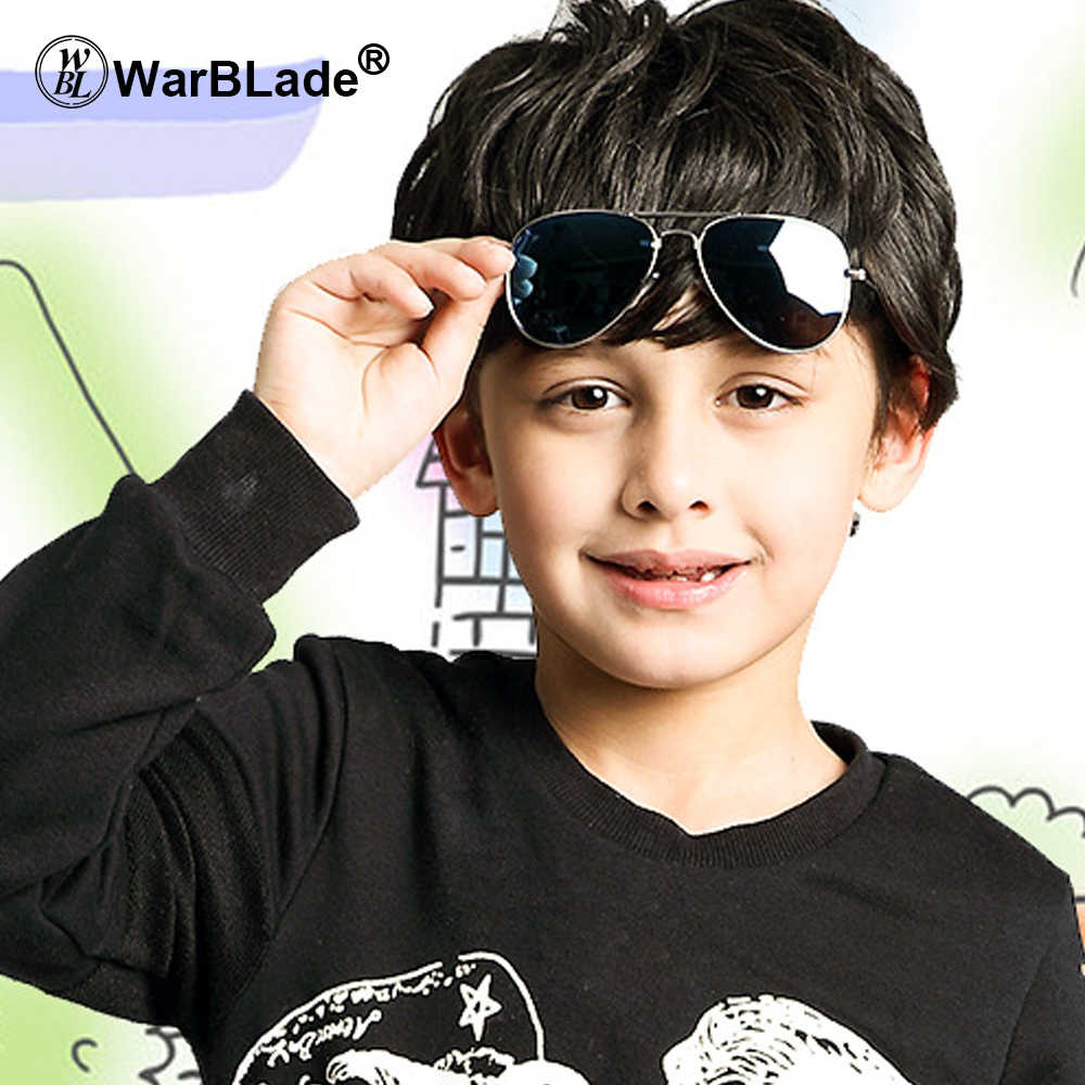 ילדי בני תינוק אופנה משקפי שמש Piolt סגנון ילדי עיצוב מותג Oculos דה סול Gafas משקפיים שמש 100% הגנת UV