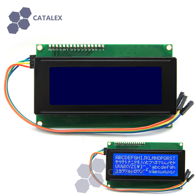 Синий модуль I2C / IIC LCD 2004 для Arduino / Raspberry Pi / AVR / ARM