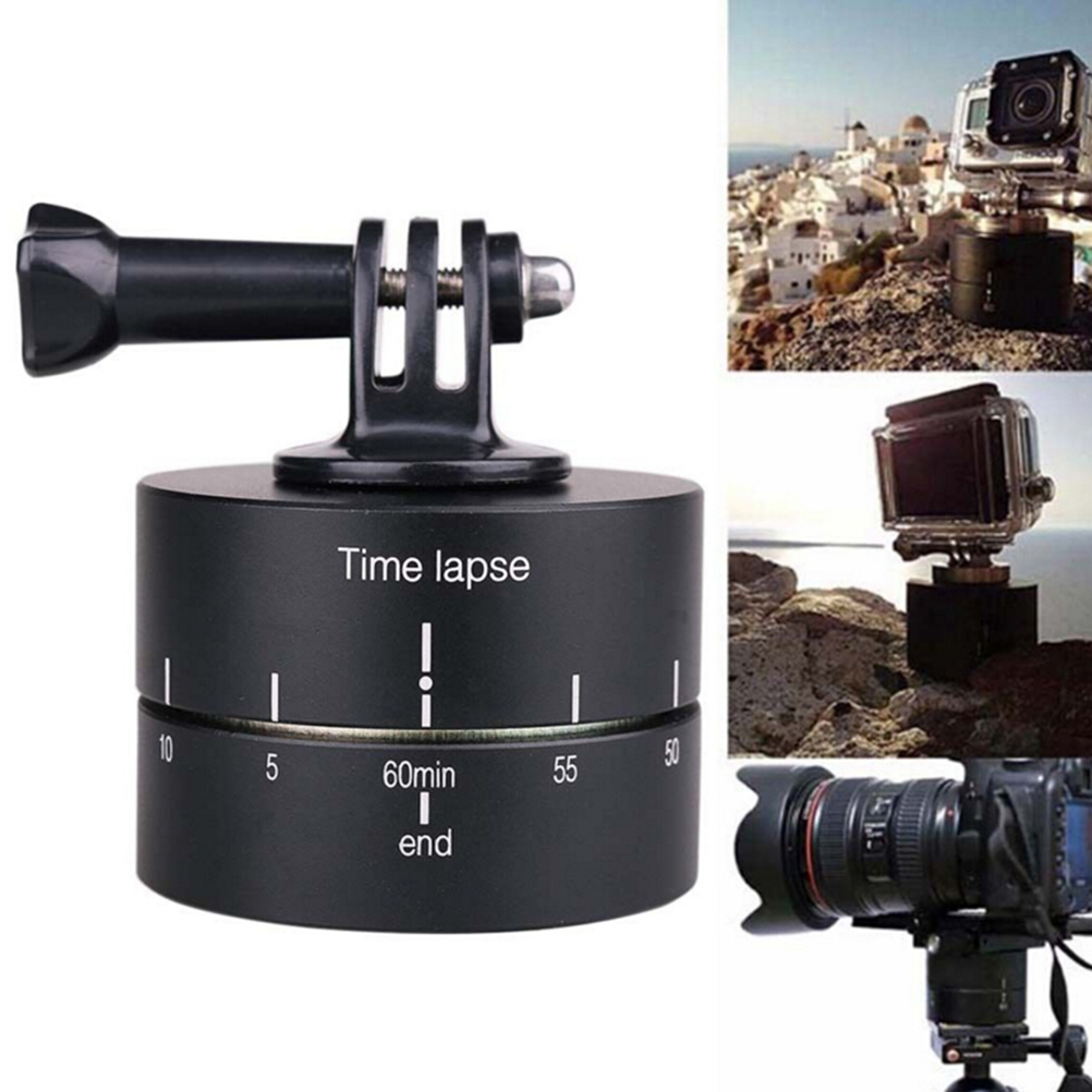 JETTING 360 Degree Time lapse Auto Rotate Camera Tripod Head Base 360 Rotating Timelapse for Gopro Camera SLR For iphone