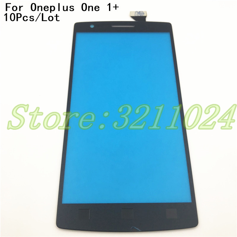 10Pcs/Lot Touch Screen Digitizer Glass Lens Sensor Replacement parts For Oneplus One 1+ A0001 mobile phone touch panel