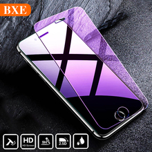BXE 9H Full Cover Screen Protector On The For Apple iPhone 5 5S 5C SE Tempered Glass For iPhone 5 s C Protective Glass Film 2.5D electroplating tempered glass mirror screen guard film for iphone 5 5s 5c