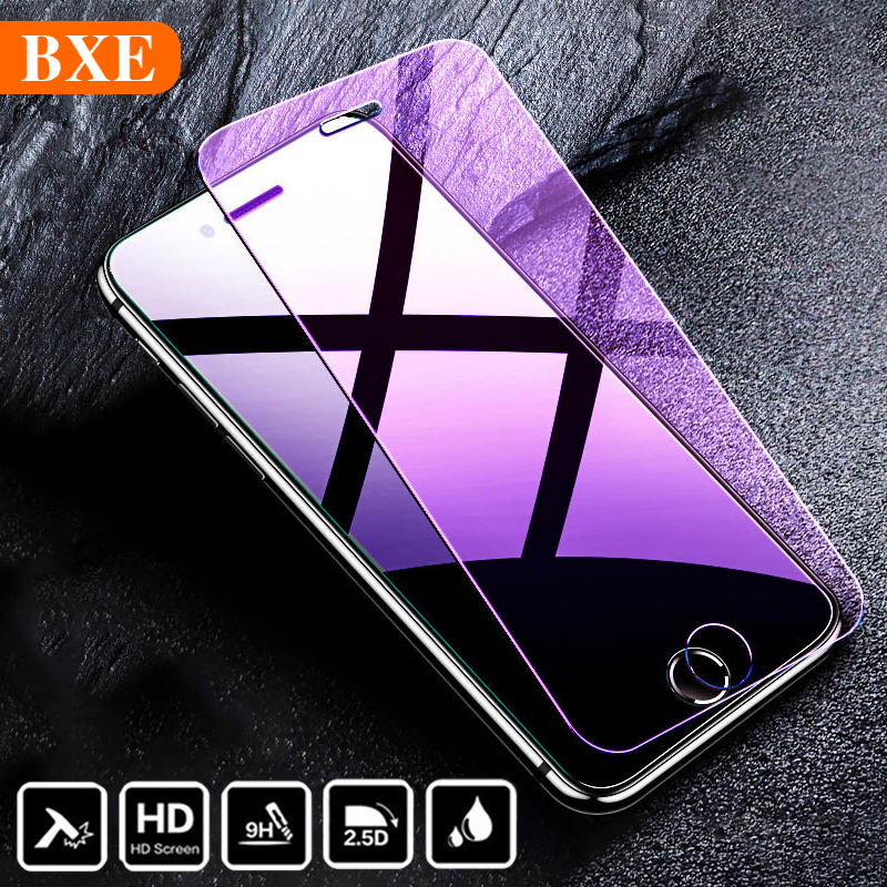 BXE Screen Protector On The For Apple IPhone 5 5S 5C SE 6 6s 7 8 Plus 11 Pro X Xs Max XR Tempered Glass For IPhone 5 6 X 10 S 6+