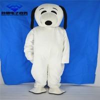 Белый талисман взрослый размер собака талисман костюм