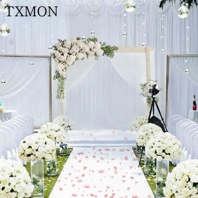 New flower wall Sen series flower simulation fake flower wedding arrangement decoration anti corrosion wooden arch