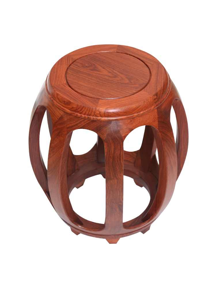 Mahogany Drum Stool Antique Chinese