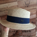 Summer new linen flat flat brim hat leisure elegant British female hat