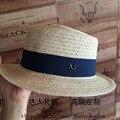 Verano nuevo de lino plana sombrero de ala plana sombrero del ocio Británico elegante femenina