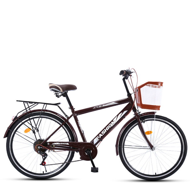 Commuter Bike 26 Inch 6 Speed Variable Vintage Retro Man and Woman Adult Bicycle Student City Light Tide image