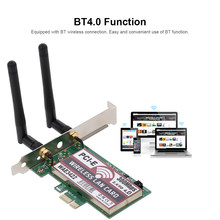 2.4GHz/5GHz Wireless LAN Card BT Dual Band WiFi Network Card with High-gain Antennas 300M PCI-E Adapter Card(China)