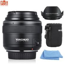 YONGNUO YN85mm F1.8 AF/MF Стандартный среднего телеобъективов фокусных расстояний изображений Камера Lens для Canon EF крепление EOS Камера s