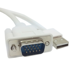50pcs/ lots PC Laptop VGA input & USB Power To HDMI HDTV output Converter Adapter cable Scaler Supports Audio, By Fedex