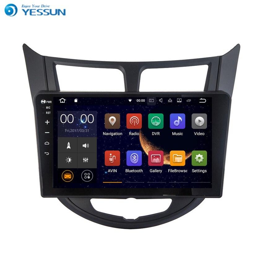 Lecteur de voiture Radio Android YESSUN pour Hyundai Accent 2011 ~ 2013 Radio stéréo multimédia Navigation GPS avec Bluetooth AM/FM