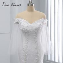 Kap kollu saf beyaz kristal boncuk Mermaid düğün elbisesi afrika yeni tasarım artı boyutu gelin kıyafeti düğün elbisesi es WX0097