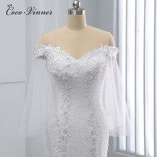 Vestido de novia blanco puro con sirena de cuentas de cristal, nuevo diseño africano de talla grande, WX0097
