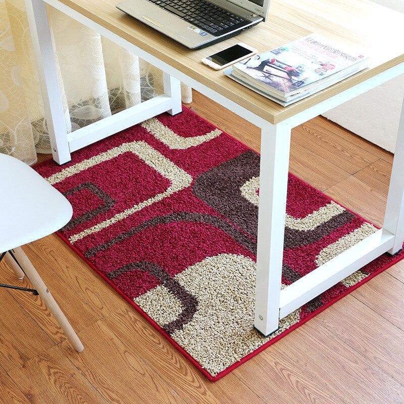 geometric pattern office chair floor mats non slip area rug for