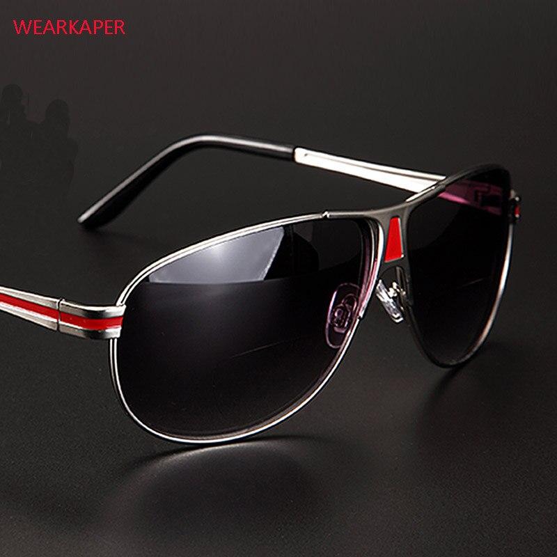 Wearkaper nova bifocal óculos de leitura unisex longe perto óculos masculinos óculos de sol presbiopia diopter 1.0-4.0 gafas