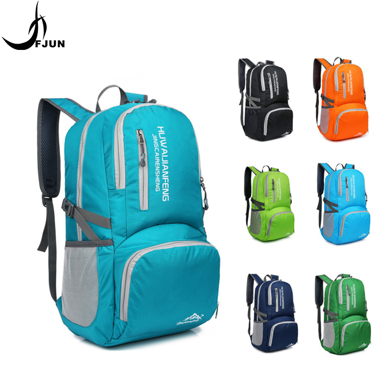 New outdoor sports foldable bags light waterproof nylon travel bag portable backpack 7 solid color breathable
