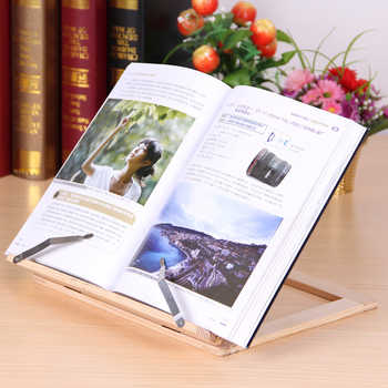 Creative Wooden Frame Reading Bookshelf Bracket Book Bookends Tablet PC Support Music Stand Wood Table Drawing Easel Stationery - DISCOUNT ITEM  45% OFF All Category