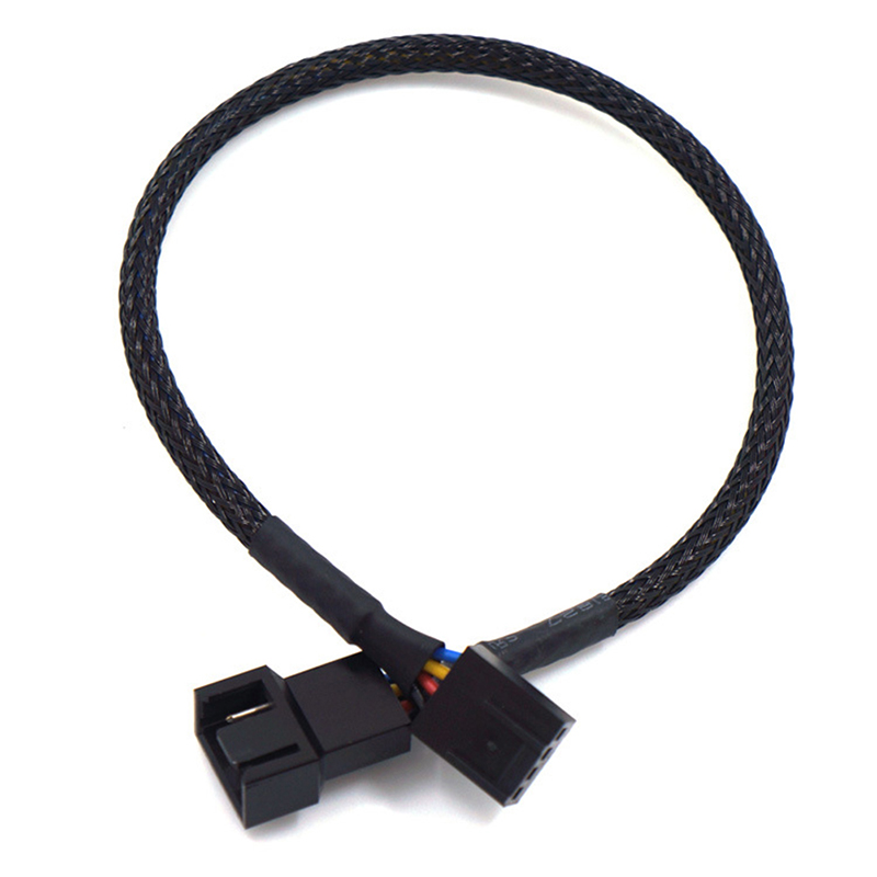 """5pcs 10/"""" Inch 4-pin Male to Female CPU Cooling Fan 12V Power Extension Cable"""