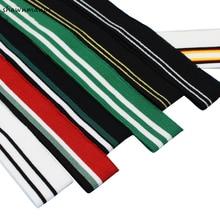 2PCS Elastic Knitted Striped Rib Fabric Of Sewing Cuffs Waistband Leg Collar Sleeve