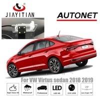 Otomobiller ve Motosikletler'ten Araç Kamerası'de JiaYiTian arka görüş kamerası VW Virtus sedan 2018 2019 2020/CCD/gece görüş/geri görüş kamerası/ters kamera plaka kamera