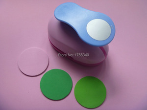 Image 3 - free shipping 1pc 50mm circle eva foam punch craft punch troqueladora de papel Kids scrapbook paper cutter scrapbooking punches