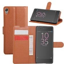 HUDOSSEN для XPERIA XA F3111 телефонные чехлы Capa Магнитный чехол-книжка из искусственной кожи для кожаные чехлы-Обложки сумка для сотового телефона и карт чехол с зажимом для Sony XA