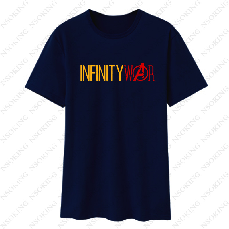Infinity War Summer Mens T-shirt Black White Top Tees clothing Avengers Letter Print Game Hip Hop Casual T Shirt Man New