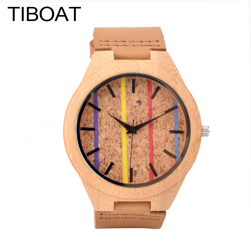TIBOAT Creative Women Watches Simple Wood Watch Female Luxury Fashion Casual Wrist Clock Ladies Quartz Watch for Men as Gifts mjartoria ladies watches clock women quartz watch simple sport bracelet watch student girl female hand wrist watches for women