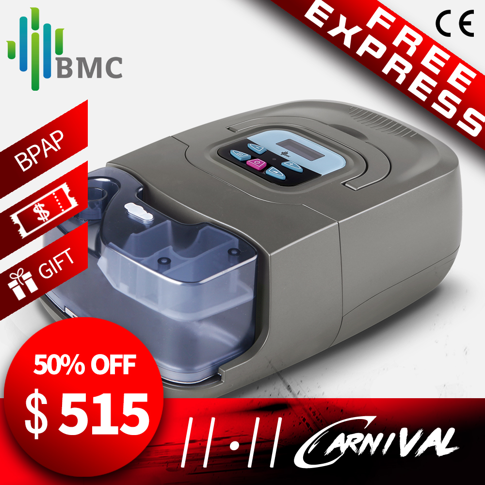 BMC GI BPAP Machine (25A) Auto/S Mode With Mask Humidifier Carrying Case Therapy Snoring Apnea And COPD Made In Chinese Factory