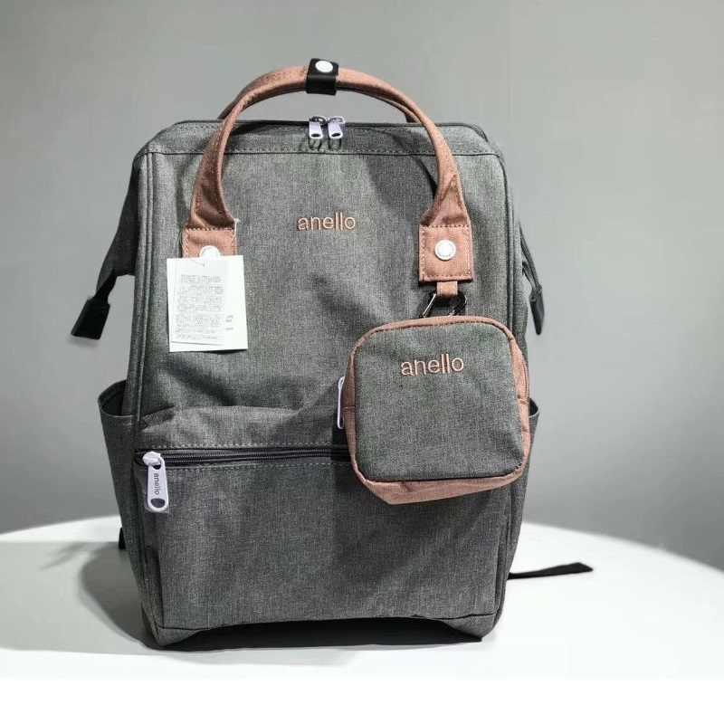 新ファッション anello 学校のバックパック、最高キャンバス印刷パッケージバッグ、女性のブランドのバックパックカラフルな