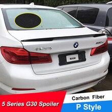 JNCFORURC Rear Trunk Lid Car Spoiler Wings For BMW 5 Series G30 G38 528 530 540li Carbon Fiber Material