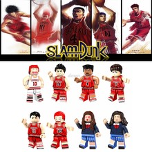 Legoing movie SLAM DUNK Figures Hanamichi Sakuragi Mitsui Hisashi Akagi Takenori Model Building Blocks Toys for Children Legoing(China)