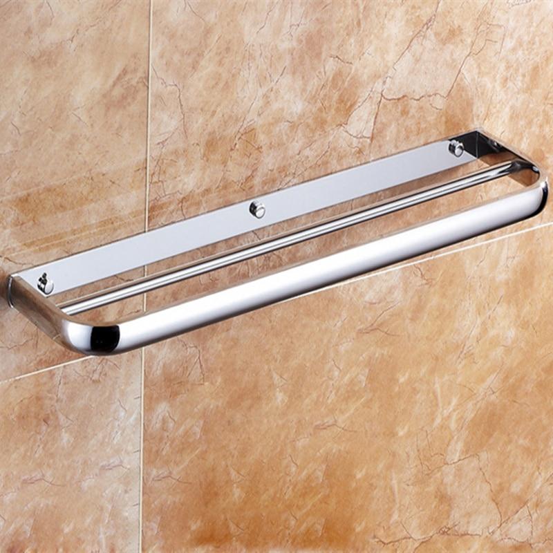 HOT Chrome 60 CM Wall-Mounted Bathroom Towel Holders Towel Bars Towels Racks Hanger Single Towel Bar For bathroom Kitchen aothpher chrome 60cm wall mounted bathroom chrome polish towel bars towels racks stainless single towel bar for bathroom