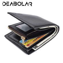 Mens Small Fashion High Quality PU Leather Designer Wallet Black Brown Soft Standard Credit ID Card Holder Purse