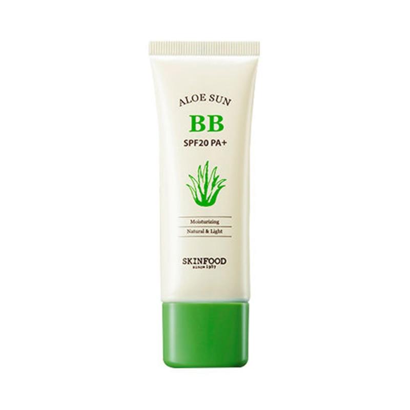 SKINFOOD Aloe Sunscreen BB Cream SPF20 PA+ 50mL 2 Color Cover Concealer Foundation Brightening Clear Sun BB Cream Skin Food тональный крем the saem porcelain skin bb cream spf30 ра 02